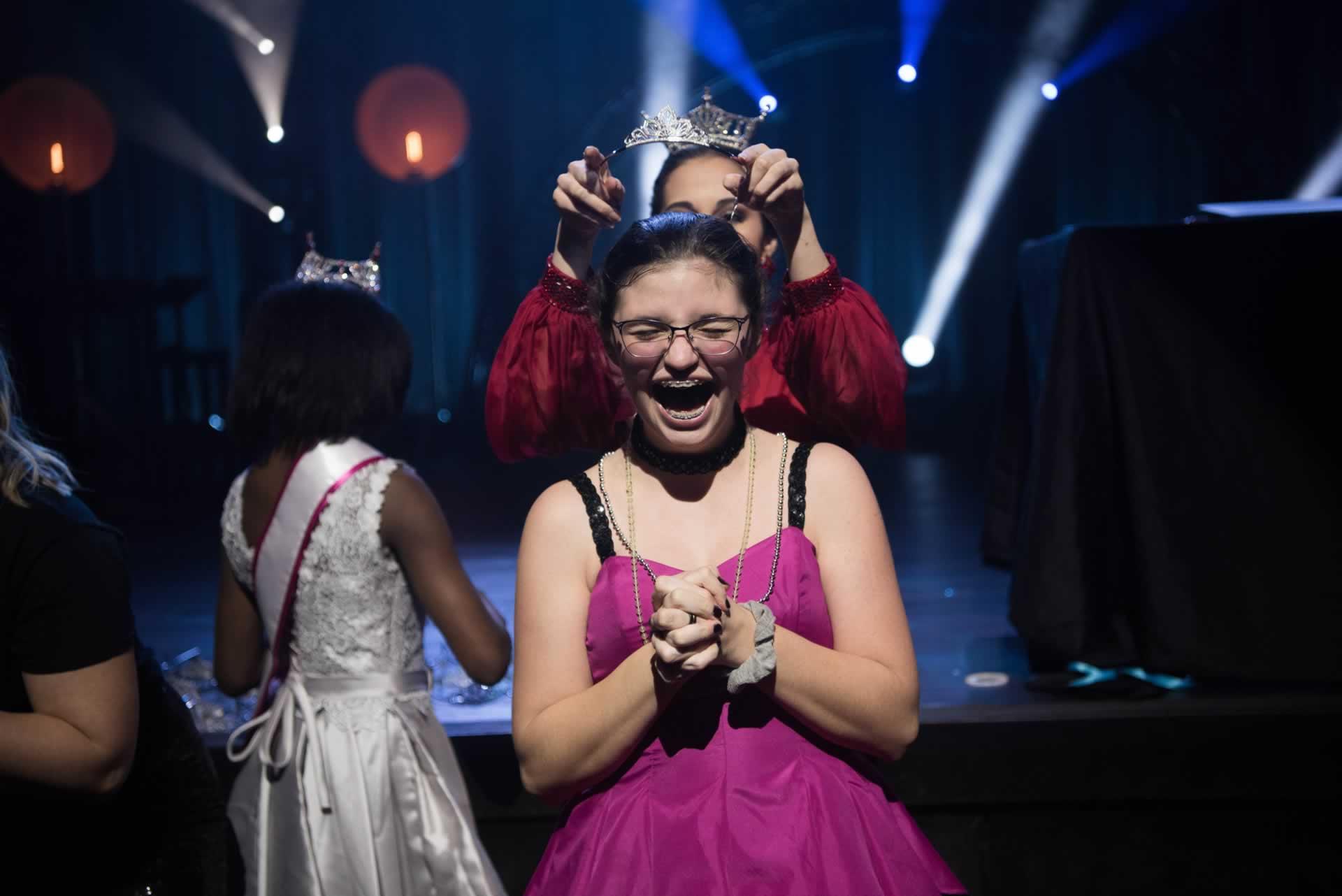 Girl receiving crown